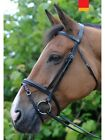 JOHN WHITAKER ELLAND LEATHER FLASH BRIDLE, RUBBER REINS - BLACK, BROWN ALL SIZES