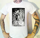 Victorian Devil Etching T-Shirt. Engraving Satan Hell Horror Victoriana