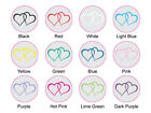 30 Clear Twin Heart Seals/Stickers, Christening Invitation, various color avail