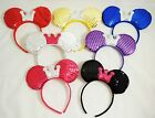 minnie mouse ears for adults - SEQUIN MINNIE MOUSE EAR WITH CROWN HEADBAND FOR TODDLER, TEENS AND EVEN ADULTS