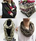 Men's Women's Unisex Knitted Loop Circular Trendy Scarf, Animal Prints, Gift!