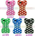 3D Bowknot Bow Polka Dot Soft Silicone Case Cover Skin for Apple iPhone 5 5s 5c