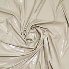 SHINY HIGH GLOSS STRETCH PU LATEX RUBBER VINYL PLEATHER GOTHIC FETISH FABRIC 54*