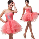 2014 New Sweet Short Beaded Ball Gown Bridesmaid Party Formal Evening Prom Dress