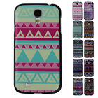 For Samsung Galaxy S4 Fashion Aztec Triangle Stripe Snap Protector Cases Cover s