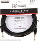 PLANET WAVES AMERICAN STAGE 20ft/6M INSTRUMENT CABLE GUITAR LEAD PW-AMSG-20
