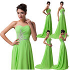 Women Full Length Strapless Beading Dress Prom Party Evening Cocktail Ball Gown