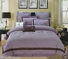 12pc Luxury Bed in a Bag Comforter Set -Spring Hill- Purple & 600TC Sheet Set