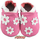 Pink Girls Baby Soft Soles Leather Shoe Pram Sweet Daisy Kids Toddler 0-18M