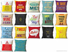 Brainbox Candy Scatter Cushion filled pillow funny joke designer removable cover