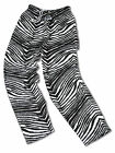 Zubaz Pants: Black/Metallic Silver Zubaz Zebra Pants- New