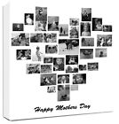 Photo Collage Canvas Heart Shape Family Tree Collage