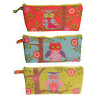 Girls Ladies Owl Fabric Pencil Case or Make Up Bag Gifts