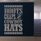 Boots Chaps And Cowboy Hats Wall Sticker Cowboy Wall Decal Art