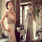 Prom Gown Sexy Bridesmaids Formal Party Evening Cocktail Chiffon Maxi Dress JS