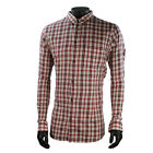 Mens Armani Red Cheque Shirt Casual Buttoned - XXL