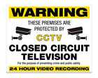 """CCTV Sign 8x10"""" Metal Sign Premises Home Office Property Business Security #22"""