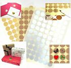 25mm GIFT WRAP ENVELOPE BAG STICKY TABS SEALS STICKERS PRINTER-Gold/Silver/Kraft