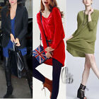 AU SELLER Slouchy Oversized Coloured Soft Loose Long Top T-Shirt/Mini Dress T108