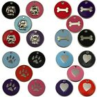 Engraved Pet Tags DOG CAT ID Disc Disk 32mm Disc FREE Post & Deep Engraving