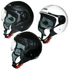 Leopard LEO-605 Open Face Scooter Motorbike Motorcycle Crash Helmet Road Legal