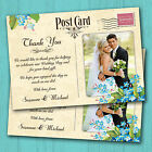 Wedding Thank You Cards Personalised *Vintage Postcard Blue