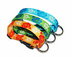 Strong and High Quality Floral Polyester dog collar- XS, S, M, L