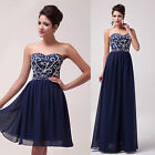 2 Style Sexy Beaded Formal Party Evening Ball Gown Prom Wedding Bridesmaid Dress