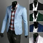 Stylish Men's Casual Slim fit One Button Suit Blazer Coat Jackets+free shipping