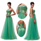 Newly Strapless Long Evening Formal Party Ballgown Bridesmaid Prom Pageant Dress