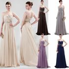 Graceful Beaded Sexy Bridesmaid Prom Ball Gown Party Evening dress Size 6-20 Hot