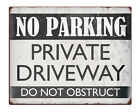 """NO PARKING Private Driveway Shabby Chic 8x10"""" Metal Sign Retro Property #230"""