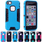 NEW Covers For Apple iPhone 5C 3-in-1 Design Hybrid Soft TPU Protective Case JS