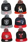 New Era Pom Pom Beanie Style 9Fifty 950 Snapback Adjustable Baseball Cap Hat M/L on Ebay