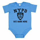 NYPD Poo-lice Personalised Baby Grow Vest Bodysuit Gift Present Funny Boy Girl