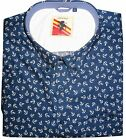 ESPIONAGE ALL OVER ANCHOR PRINT COTTON SHORT SLEEVED SHIRT (128),SIZE 2XL-8XL