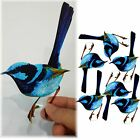 TRANSPARENT BLUE WREN, PRE-CUT or UNCUT PACK bird suncatcher scrapbooking craft