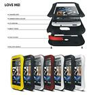 Waterproof Shockproof Gorilla Glass Aluminum Metal Case Cover for HTC ONE M7 M8