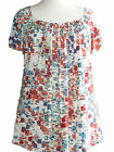 *NEW* Ladies Marina Kaneva Cream Multi Print PLUS SIZE Tunic Top 16-32