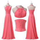 Vogue Long Chiffon Backless Evening Party Bride Ball Gown Prom Bridesmaid Dress