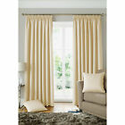 Geometric Square Curtains – Woven Cream Fully Lined Pencil Pleat Curtain Pair