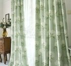 Custom Provincial French Country Floral Flower Green Window Curtain Panel 030