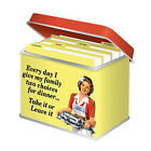Quality Vintage Retro Recipe Card Tin Storage Container Index and Blank Card Inc