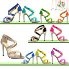 Womens Shoes Fashion Sexy High Heels Ankle Strap Stilettos Platform Sandals Pump