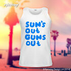 Suns Out Guns Out Vest Sun's Sleeveless T-shirt Summer Holiday Tank Top Tshirt T
