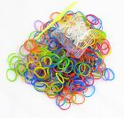 DIY 600 pcs MultiColor Rainbow Loom Refill Rubber Bands With 24 S/C Clips
