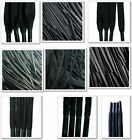 Black Laces Waxed - Round, Cord, Flat, All Lengths, For Boots, Shoes & Trainers
