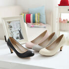 Fashion Women Shoes Synthetic Leather Mid Heels Ladies' Pumps UK All Size SNX287