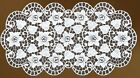 "Oval floral cream or white lace Table Mat/Doily/Napkin (16"" x 32"") (40 - 80 cm)"