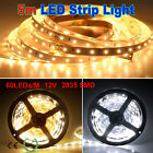 5M SMD2835 60LED/M 300LEDs Warm/Cool Flexible Strip Light Non/Waterproof IP65